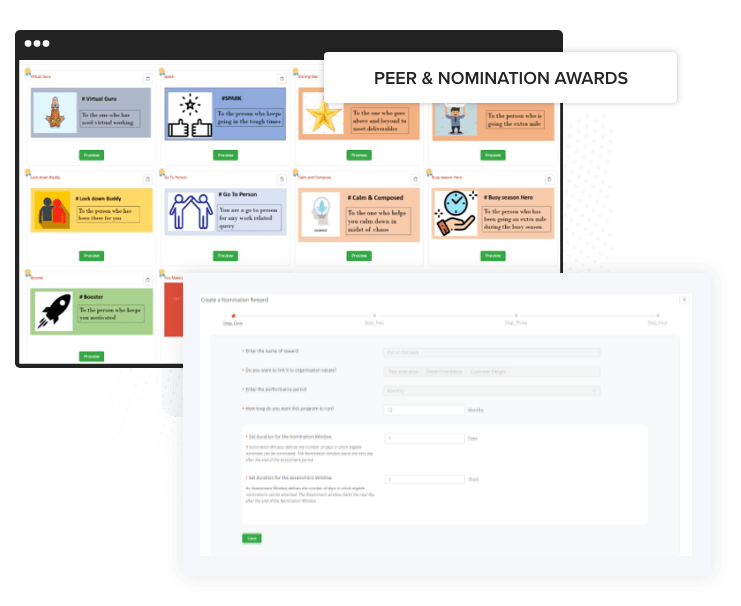 Peer to peer recognition program, Peer to peer award ideas
